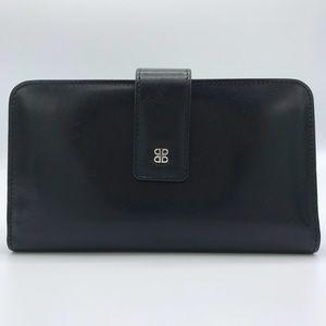 NWT Bosca Old Leather Checkbook Clutch in Black